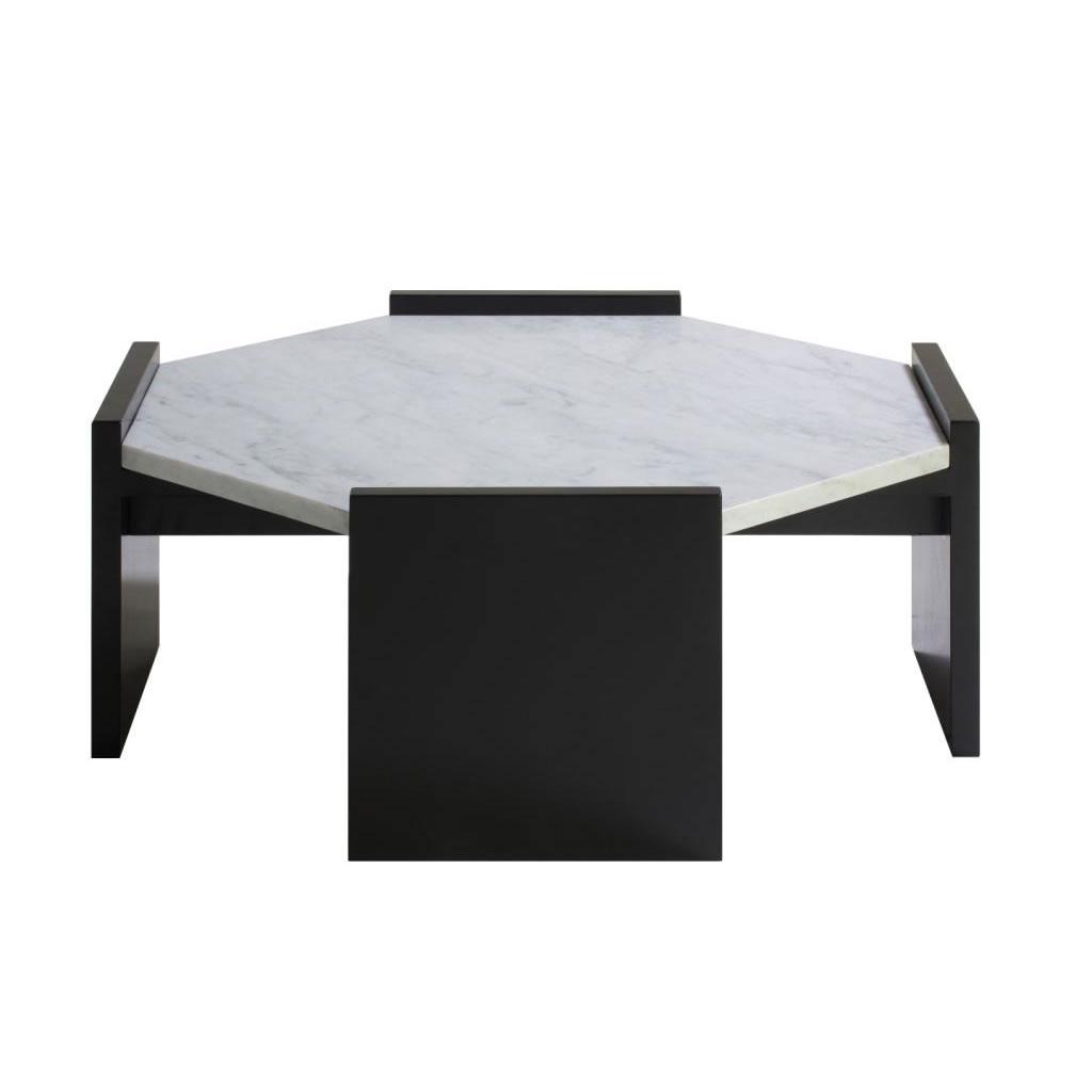 Hudson coffee tableblack with whitecarraa marble casa mia hudson coffee table geotapseo Images